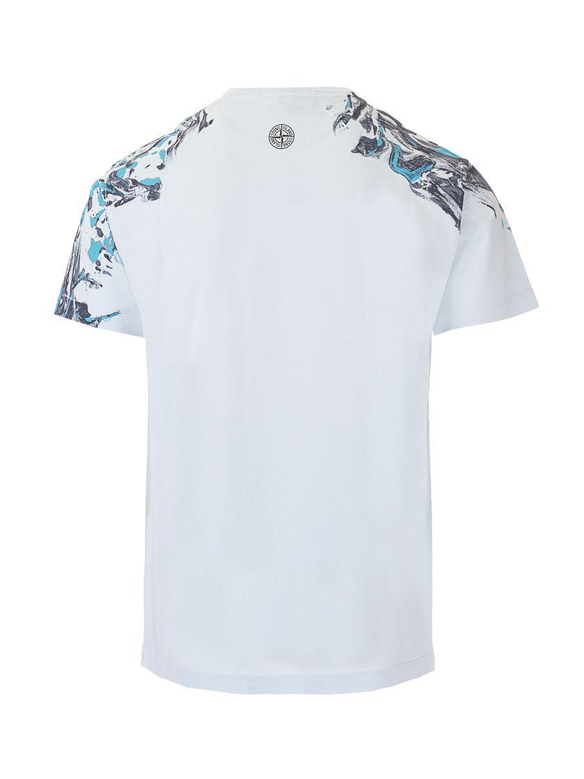 STONE ISLAND T-shirts STONE ISLAND MEN'S BLUE OTHER MATERIALS T-SHIRT
