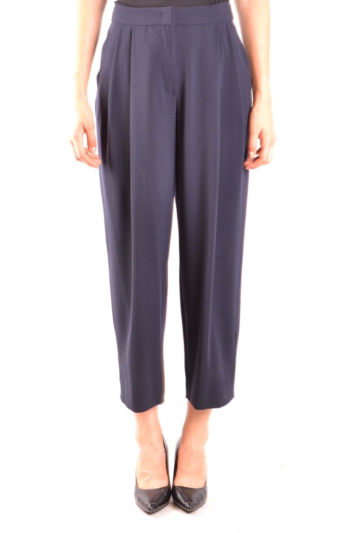 Armani Collezioni Blue Wool Pants