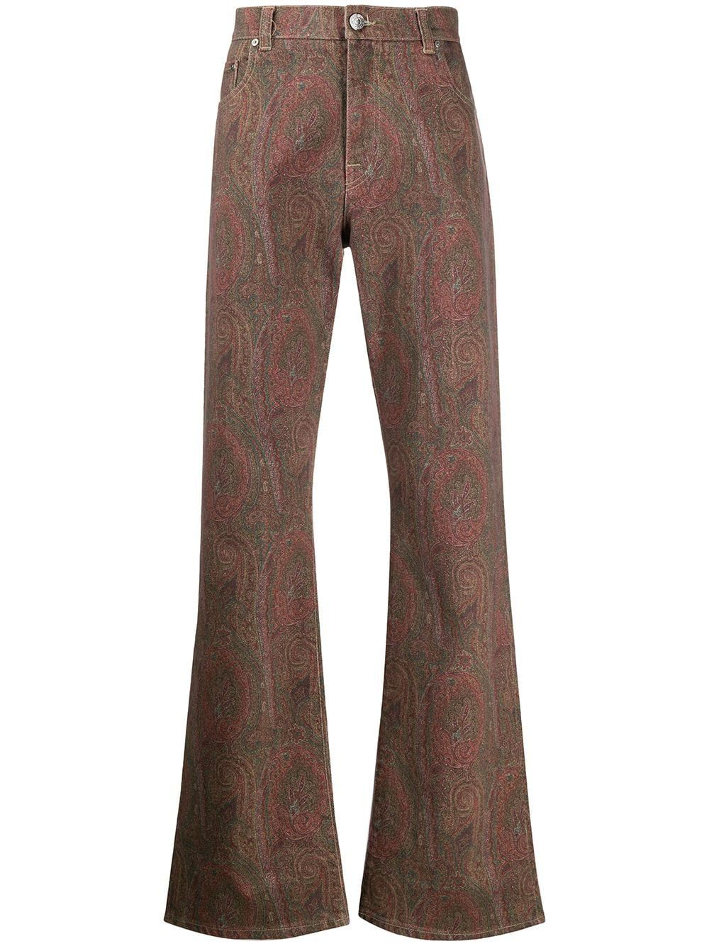 Etro Men's Multicolor Cotton Jeans