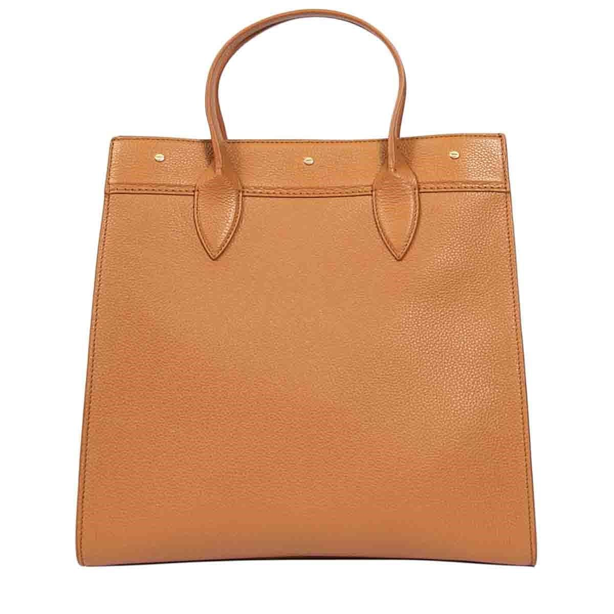 Borbonese BORBONESE WOMEN'S BROWN LEATHER HANDBAG