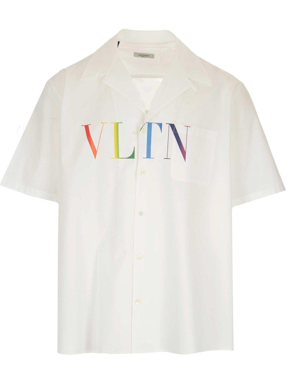 Valentino Shirts VALENTINO MEN'S WHITE OTHER MATERIALS SHIRT