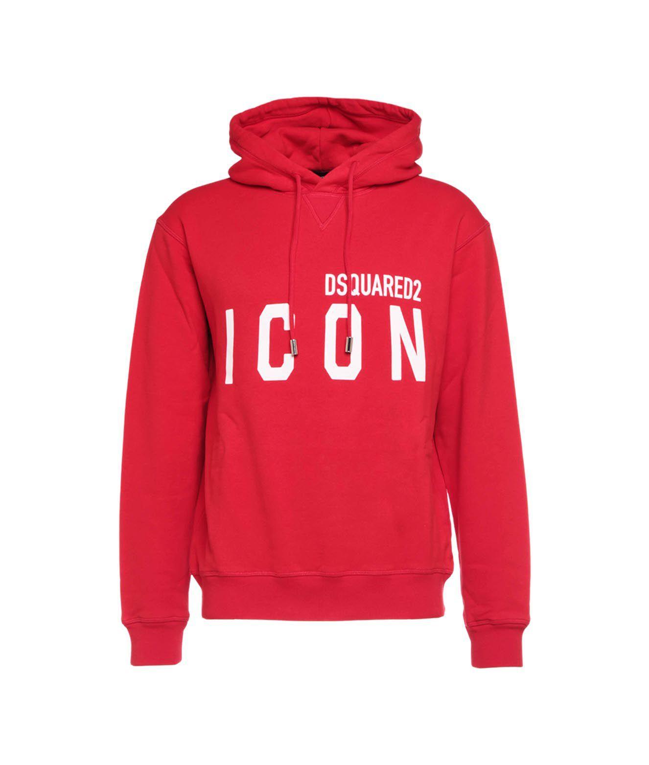 Dsquared2 Sweatshirts DSQUARED2 MEN'S RED OTHER MATERIALS SWEATSHIRT