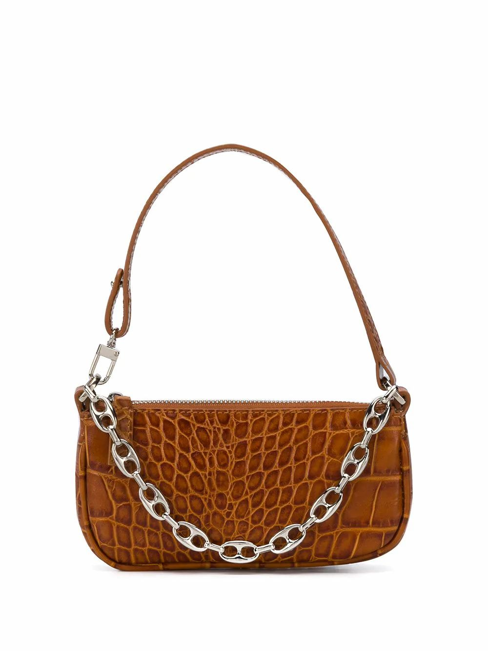 BY FAR BY FAR WOMEN'S BROWN LEATHER HANDBAG