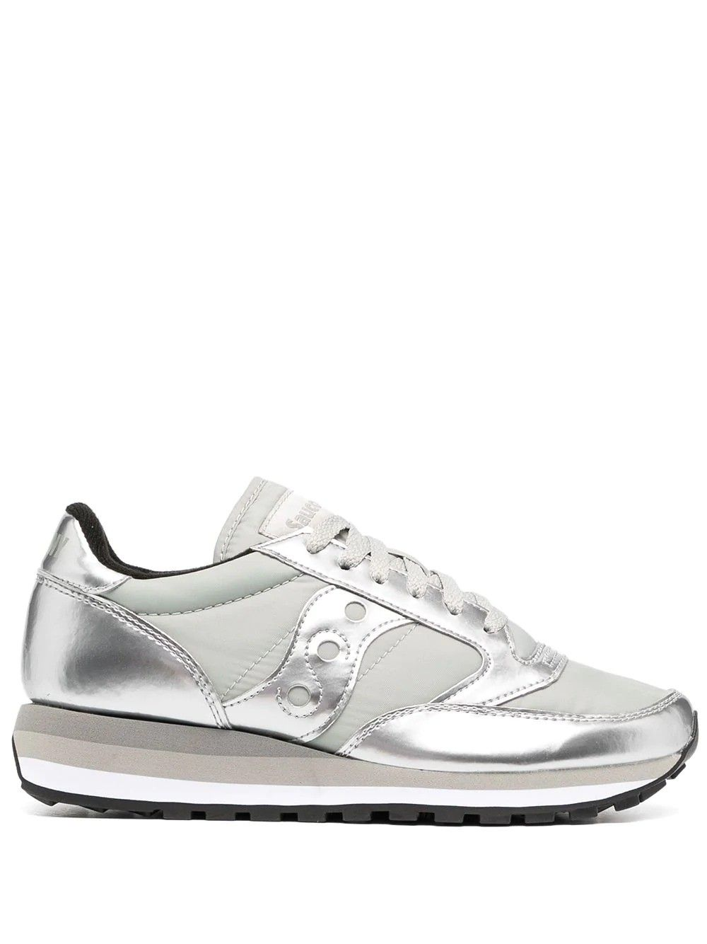 Saucony SAUCONY WOMEN'S SILVER LEATHER SNEAKERS