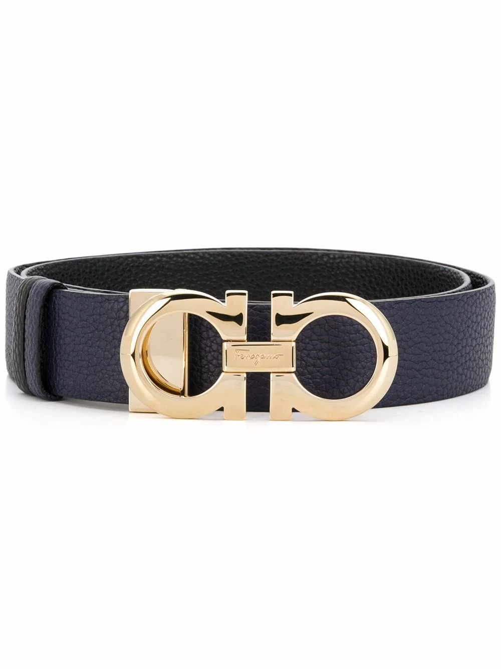 Salvatore Ferragamo SALVATORE FERRAGAMO WOMEN'S BLUE LEATHER BELT