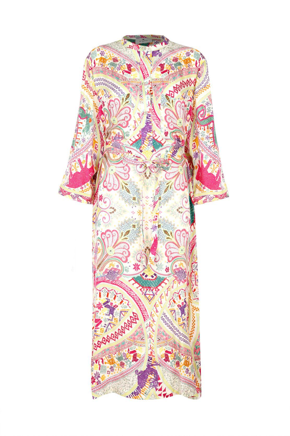 Etro Silks ETRO WOMEN'S MULTICOLOR VISCOSE DRESS