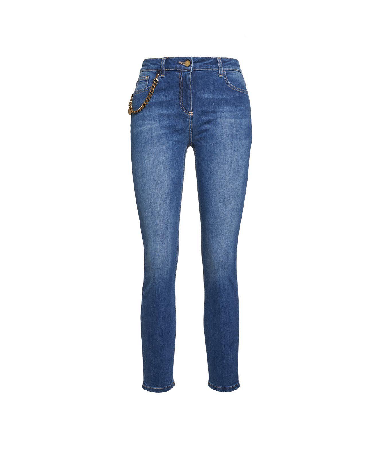 Elisabetta Franchi Jeans ELISABETTA FRANCHI WOMEN'S BLUE OTHER MATERIALS JEANS