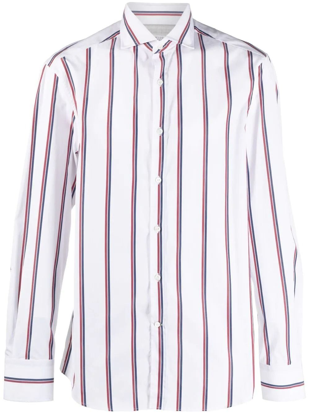Brunello Cucinelli Shirts BRUNELLO CUCINELLI MEN'S WHITE COTTON SHIRT