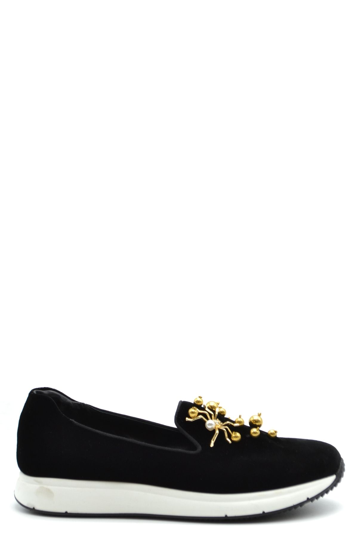 Car Shoe BLACK VELVET LOAFERS