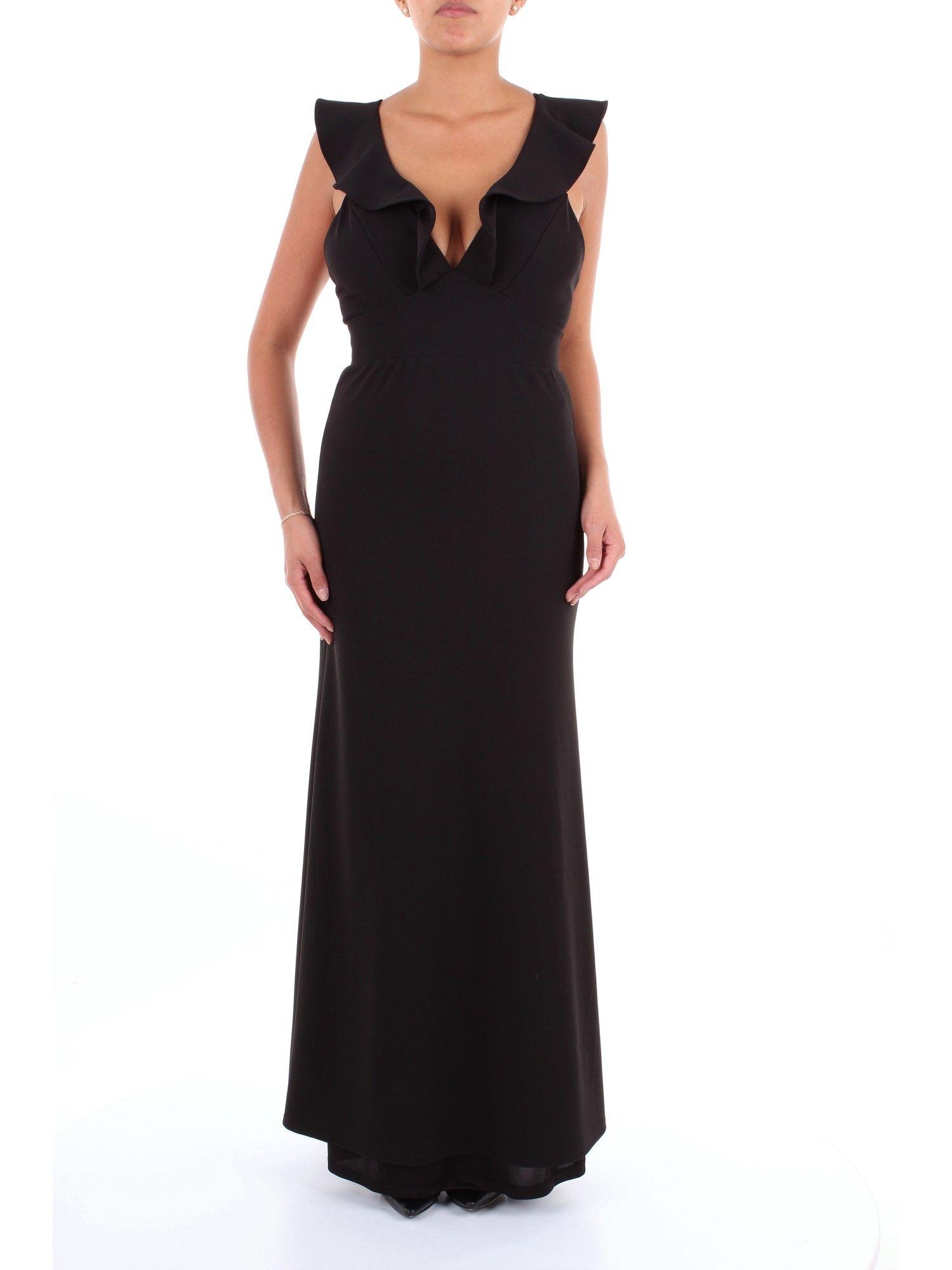 So Allure Women's Black Polyester Dress