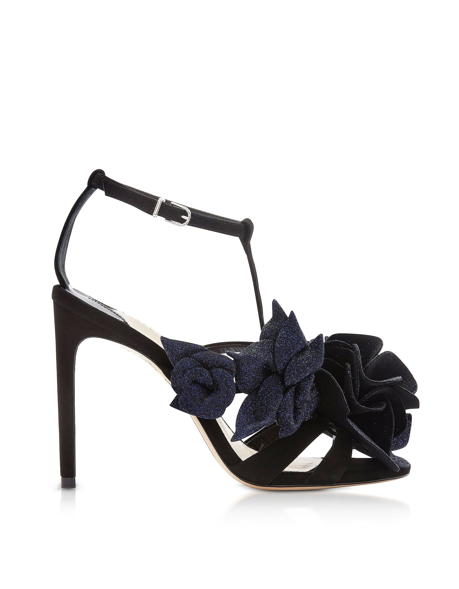 Sophia Webster Black Leather Sandals