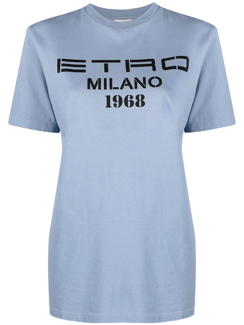 Etro ETRO WOMEN'S LIGHT BLUE COTTON T-SHIRT