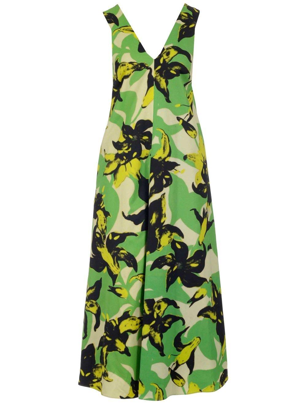 Dries Van Noten DRIES VAN NOTEN WOMEN'S GREEN OTHER MATERIALS DRESS