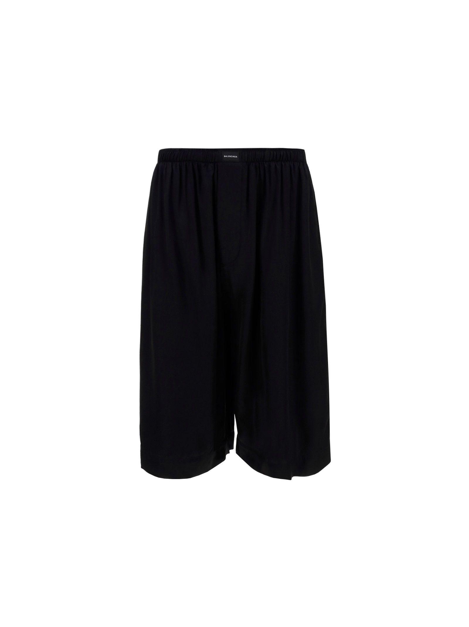 Balenciaga Pajamas BALENCIAGA MEN'S BLACK OTHER MATERIALS SHORTS