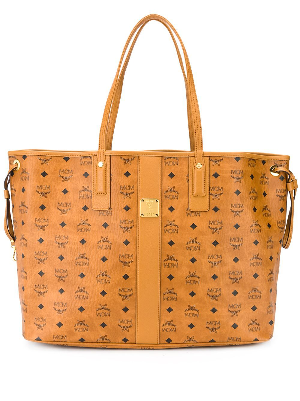 Mcm Leathers MCM WOMEN'S BROWN LEATHER TOTE