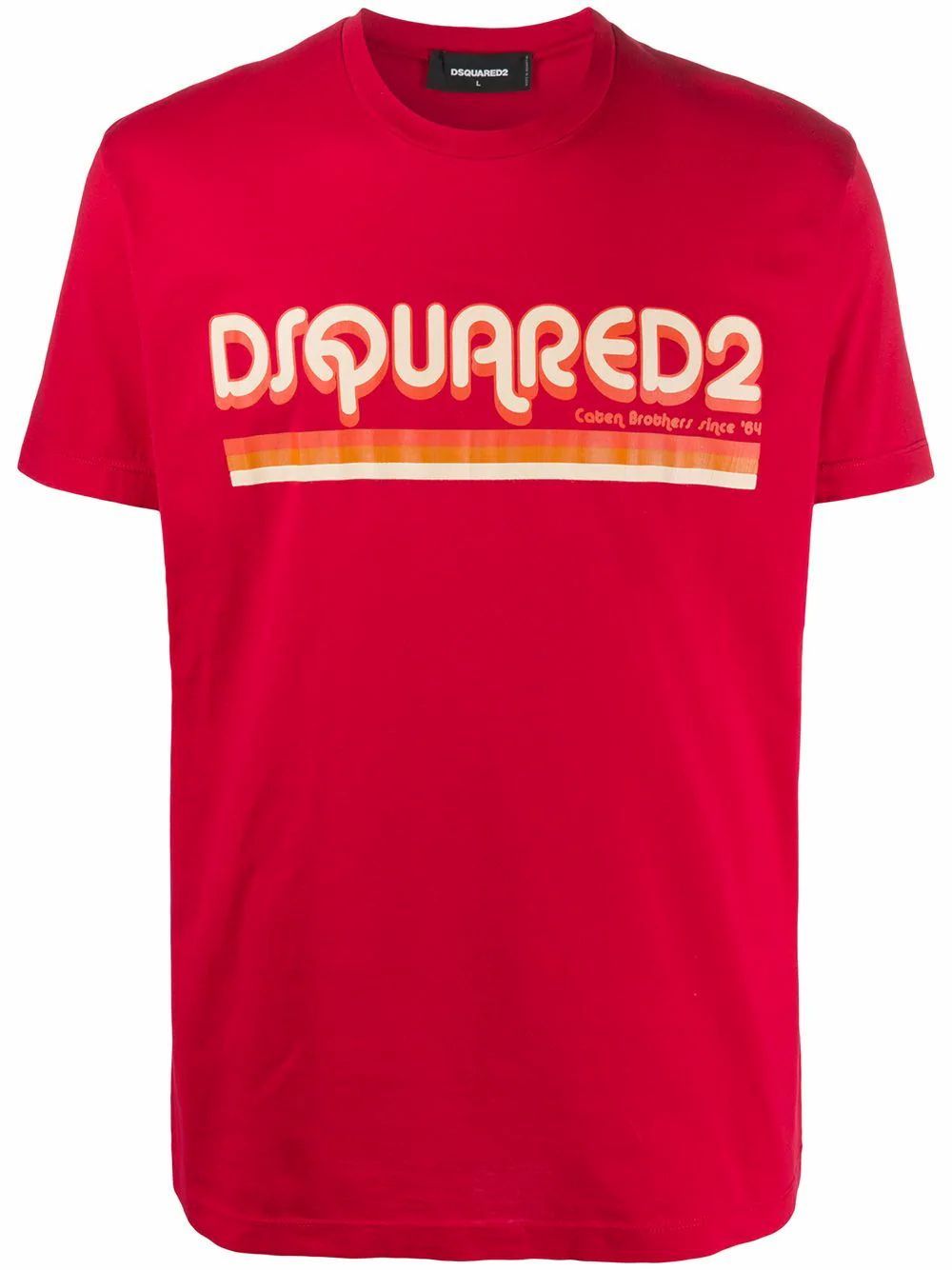 Dsquared2 Cottons DSQUARED2 MEN'S RED COTTON T-SHIRT