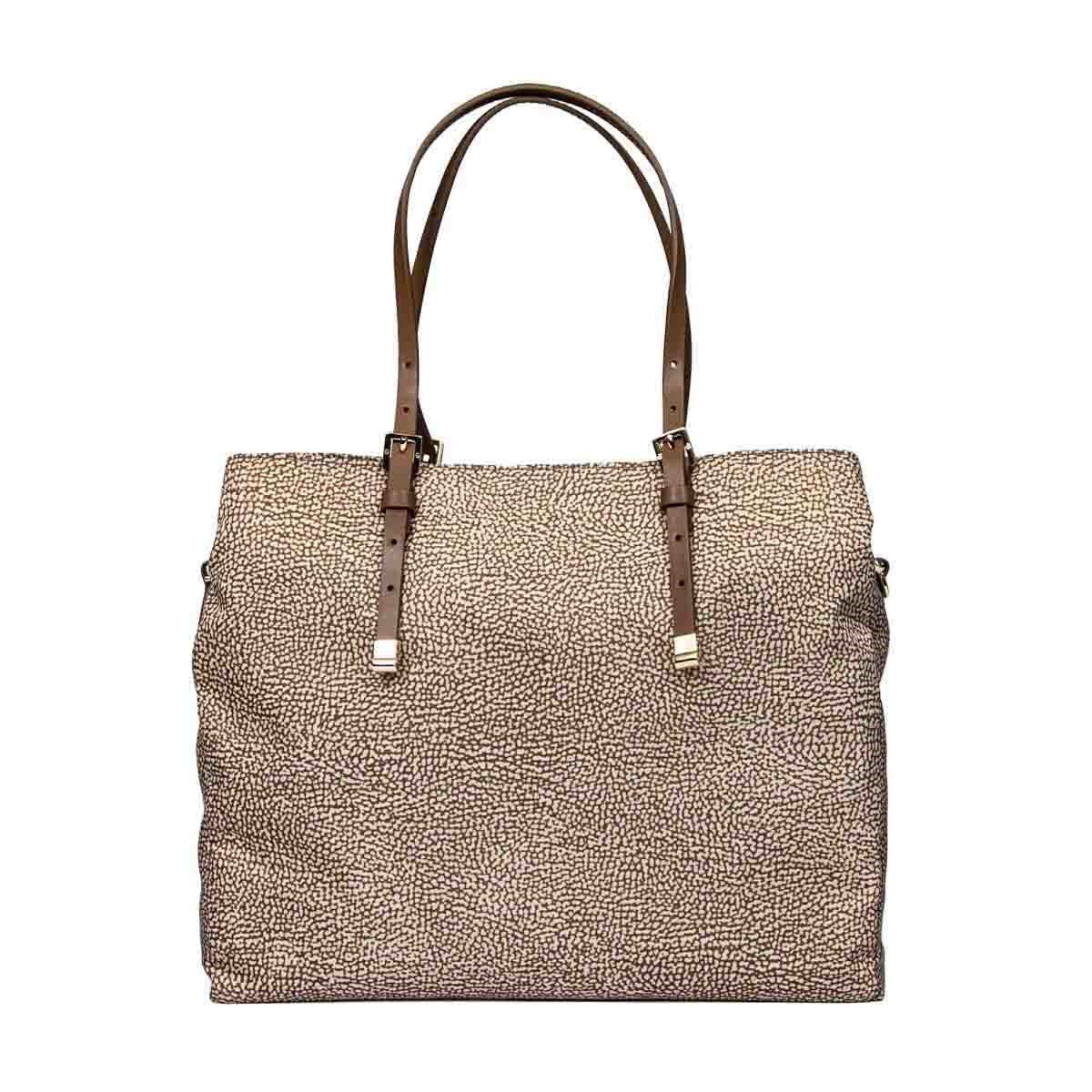 Borbonese Handbags BORBONESE WOMEN'S BEIGE POLYESTER HANDBAG