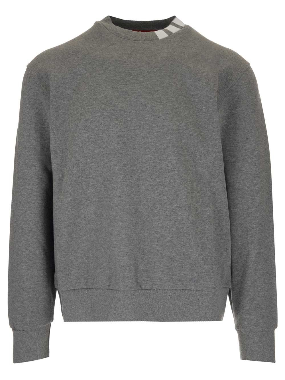 Thom Browne THOM BROWNE MEN'S GREY COTTON SWEATSHIRT