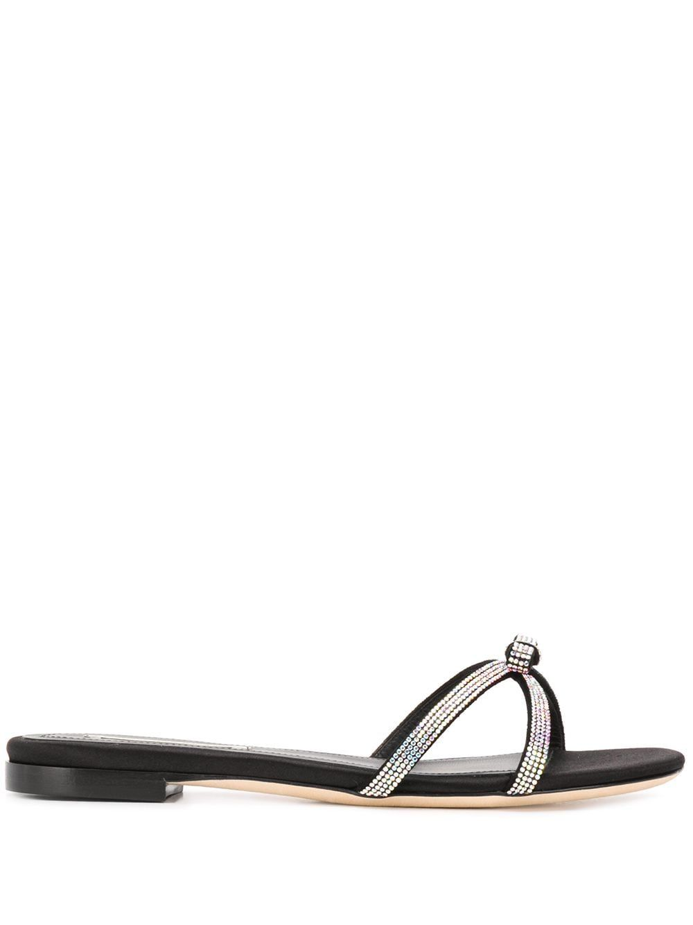 Marco De Vincenzo BLACK LEATHER SANDALS