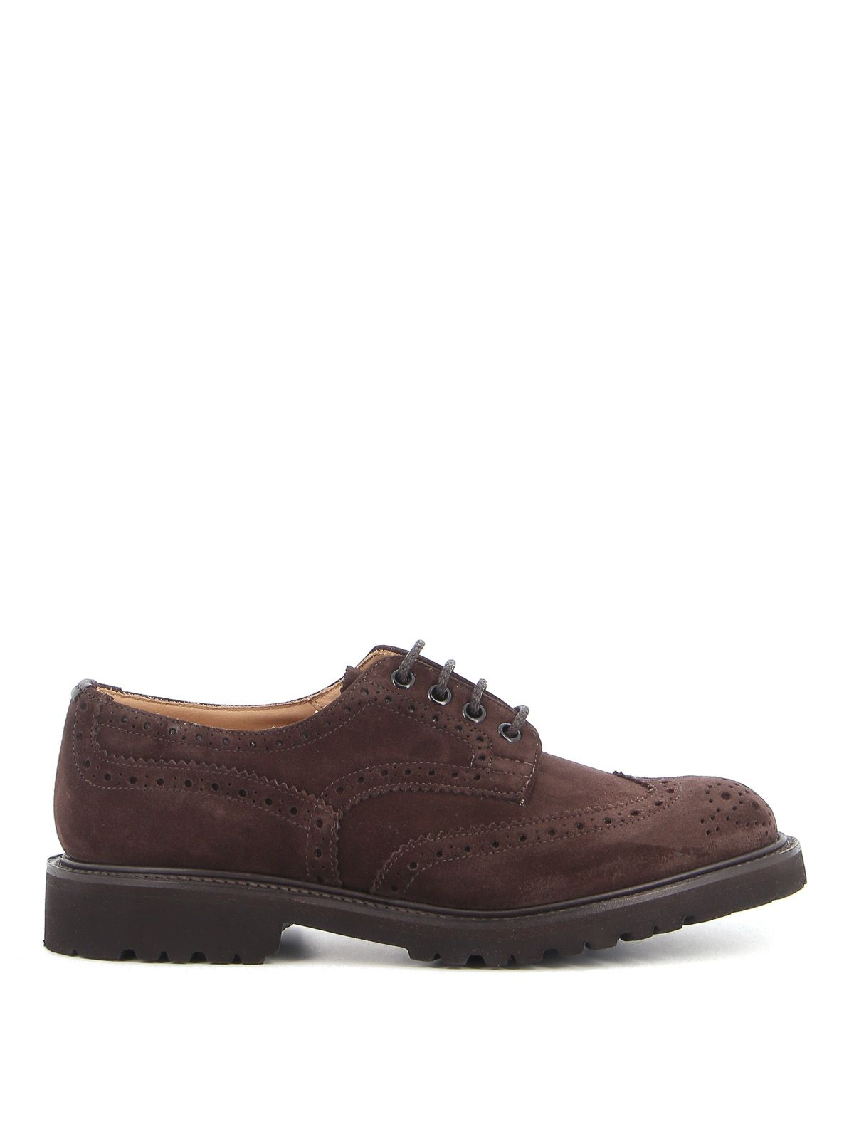 TRICKER'S TRICKER'S MEN'S BROWN SUEDE LACE-UP SHOES