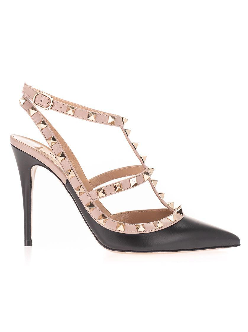 Valentino High heels VALENTINO GARAVANI WOMEN'S BLACK LEATHER SANDALS
