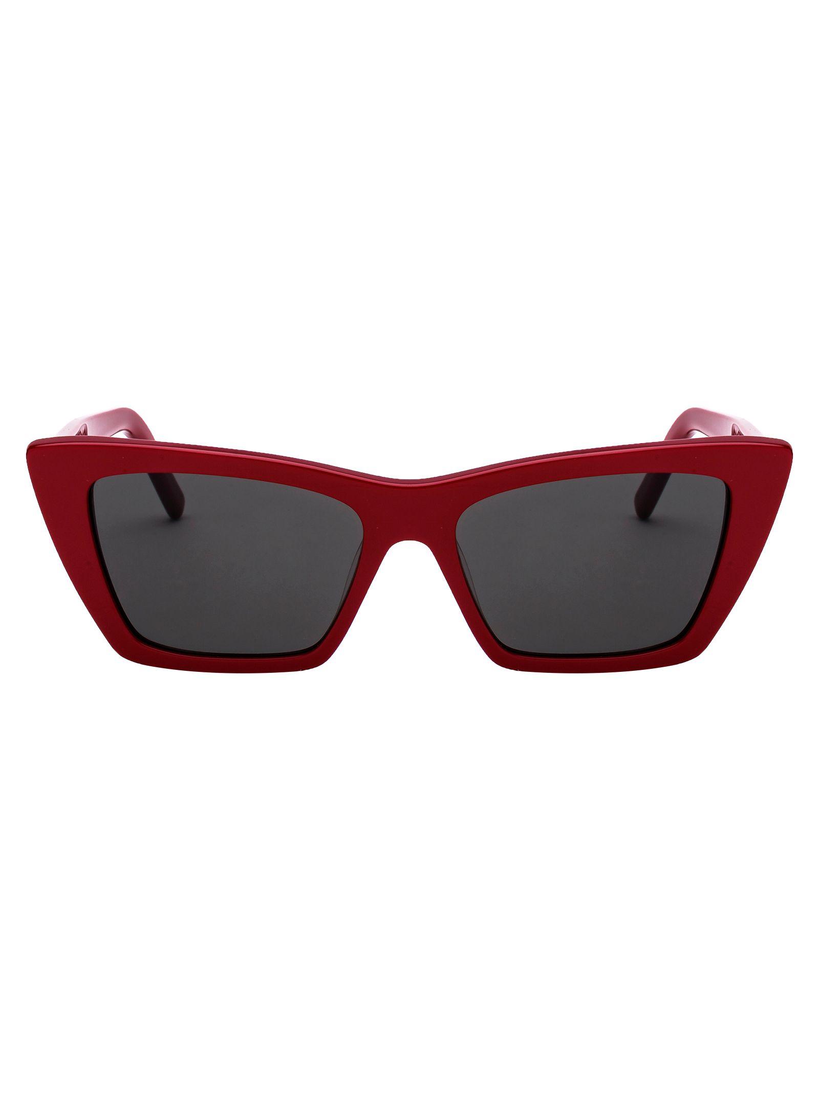 Saint Laurent Women's Red Acetate Sunglasses