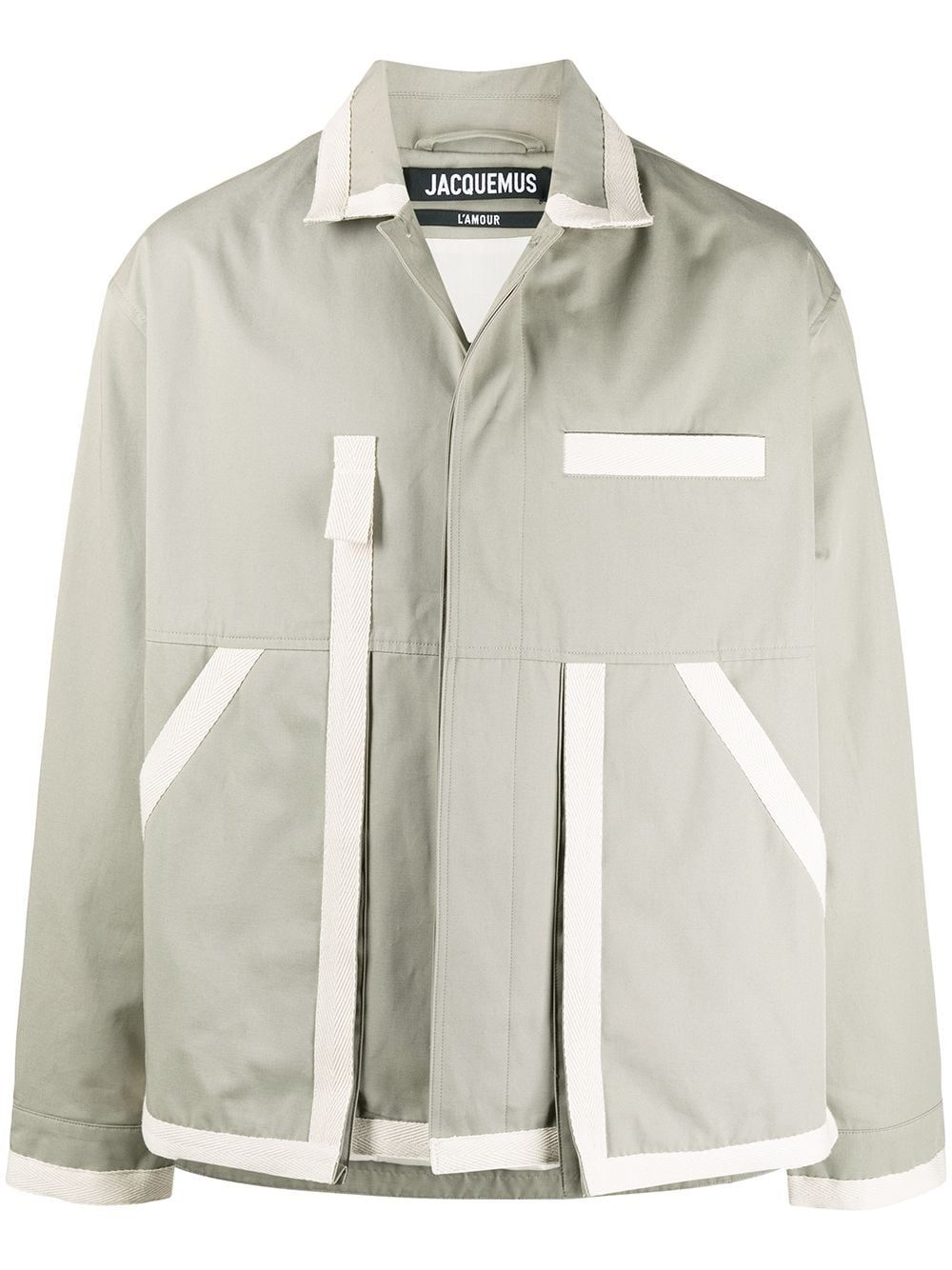 Jacquemus Cottons JACQUEMUS MEN'S GREEN COTTON JACKET