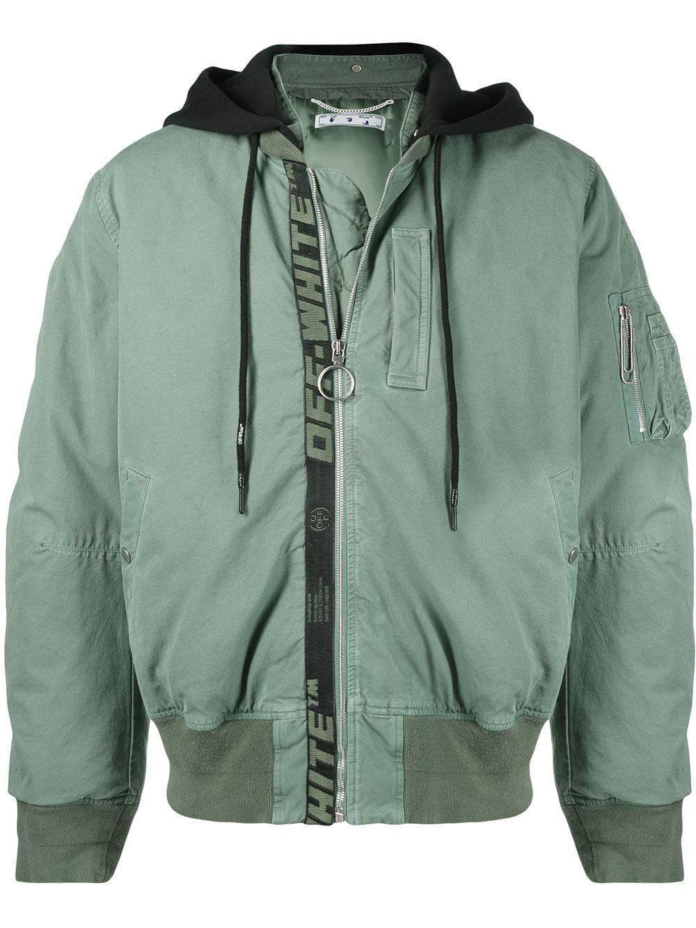 Off-White OFF-WHITE MEN'S GREEN COTTON OUTERWEAR JACKET