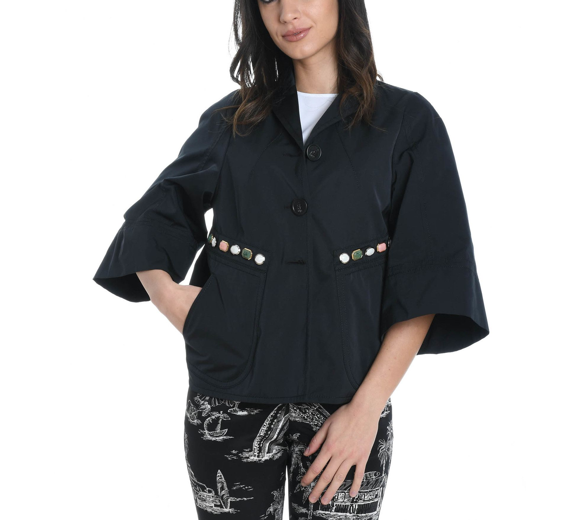 N°21 Black Polyester Outerwear Jacket