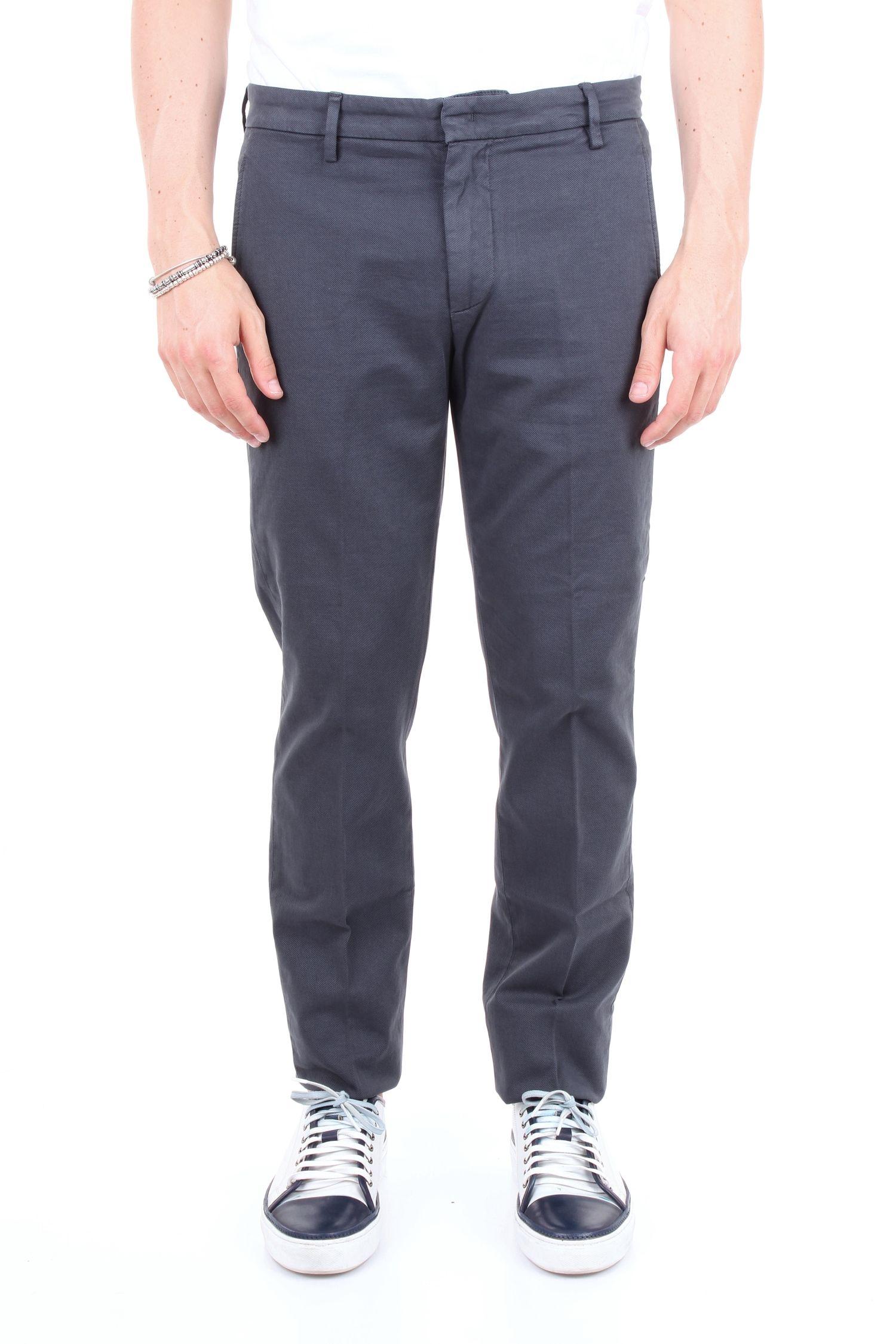 Dondup Grey Cotton Pants