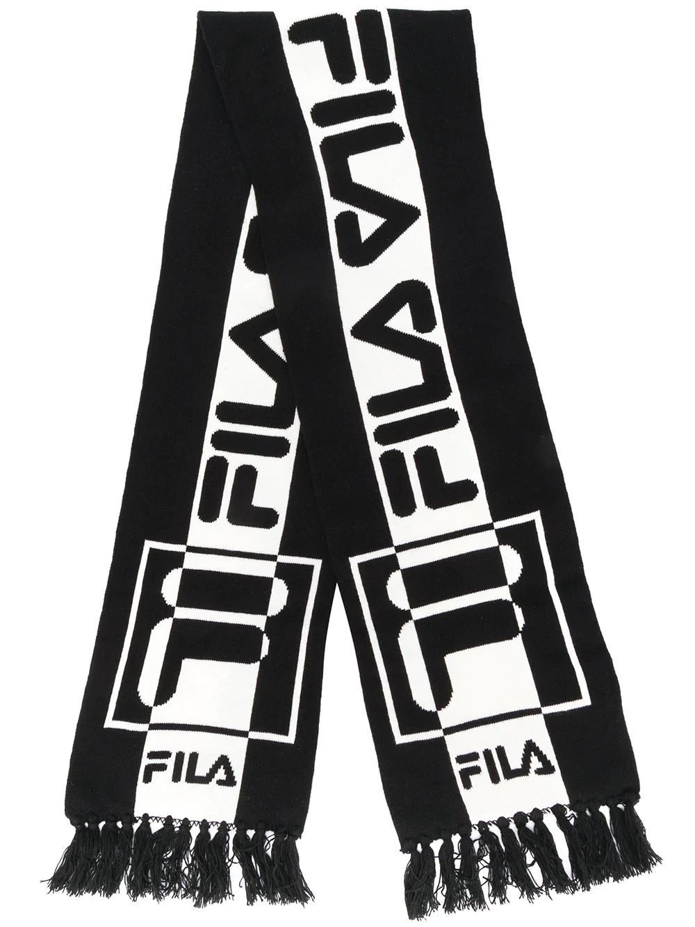 Fila Contrast Logo Scarf In Black
