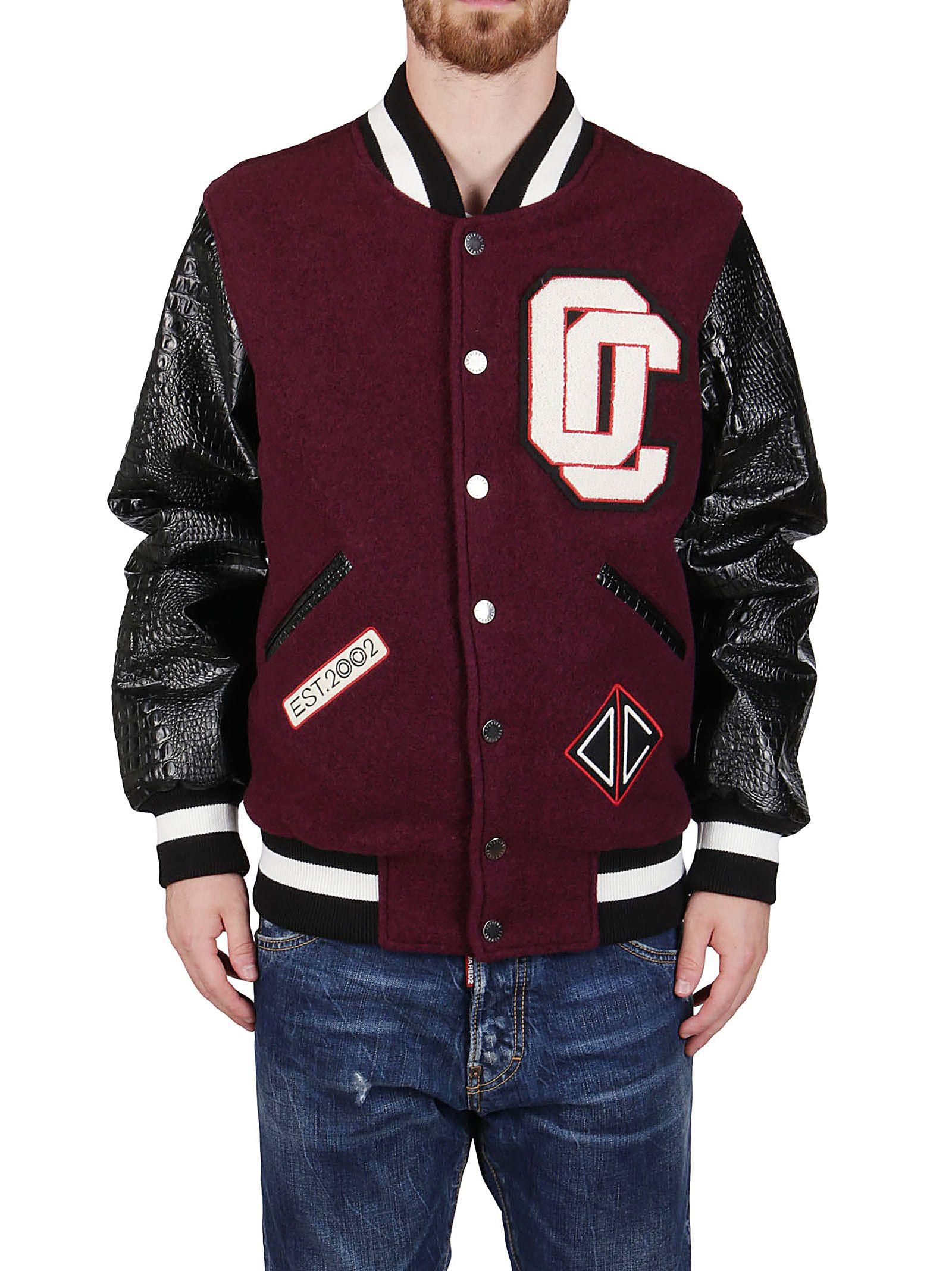 Opening Ceremony OPENING CEREMONY MEN'S BURGUNDY OUTERWEAR JACKET