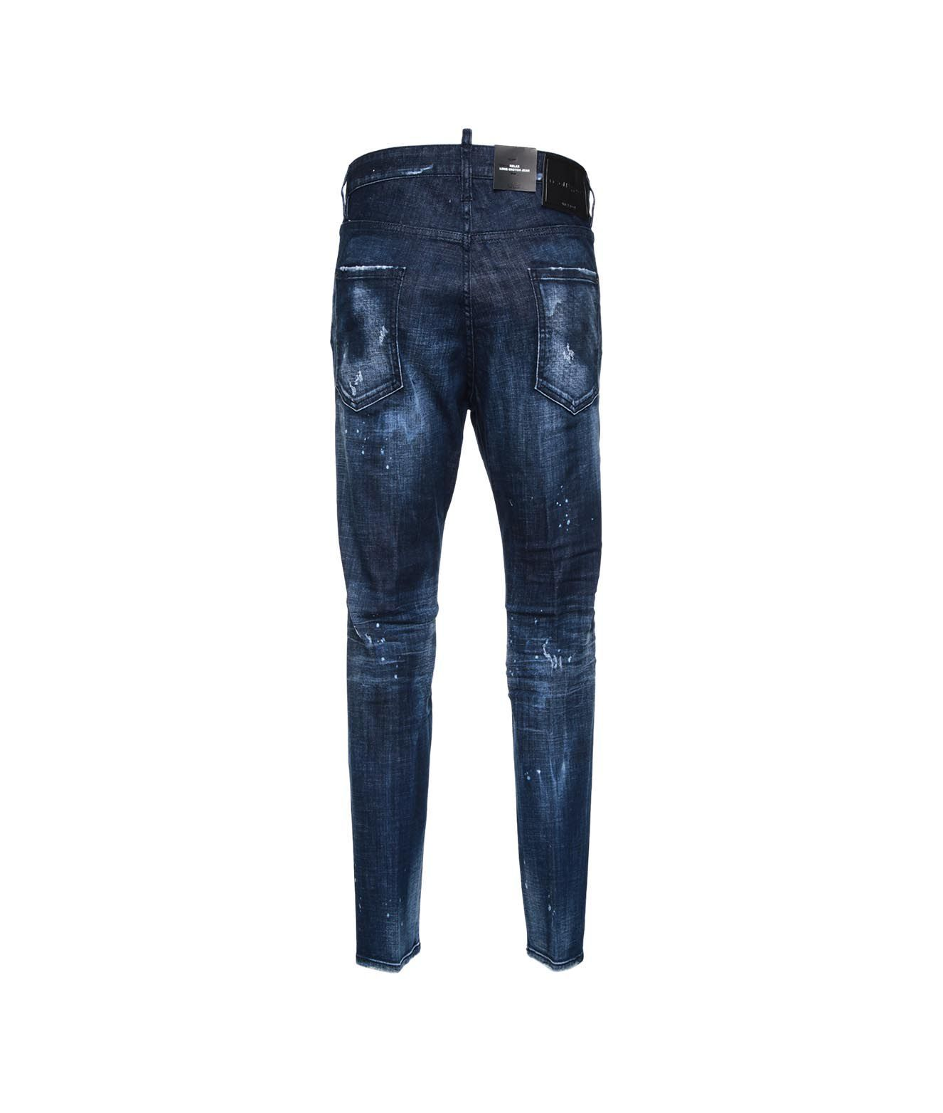 DSQUARED2 Jeans DSQUARED2 MEN'S BLUE OTHER MATERIALS JEANS