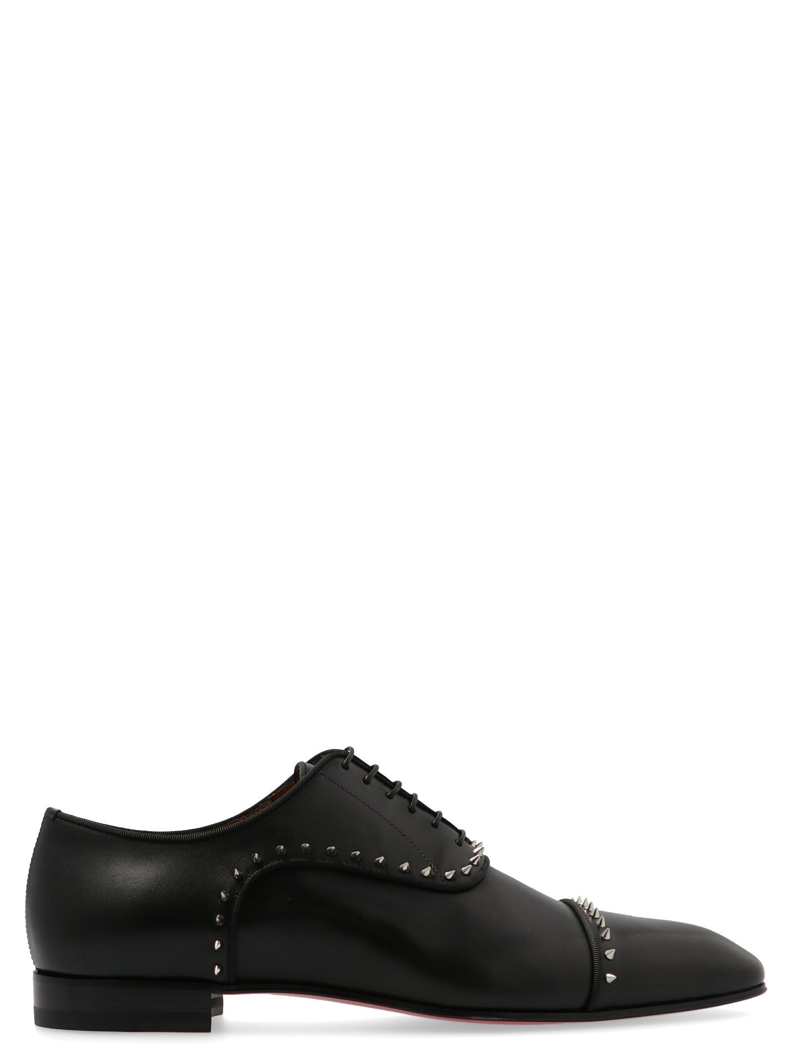 Christian Louboutin Black Leather Lace-Up Shoes