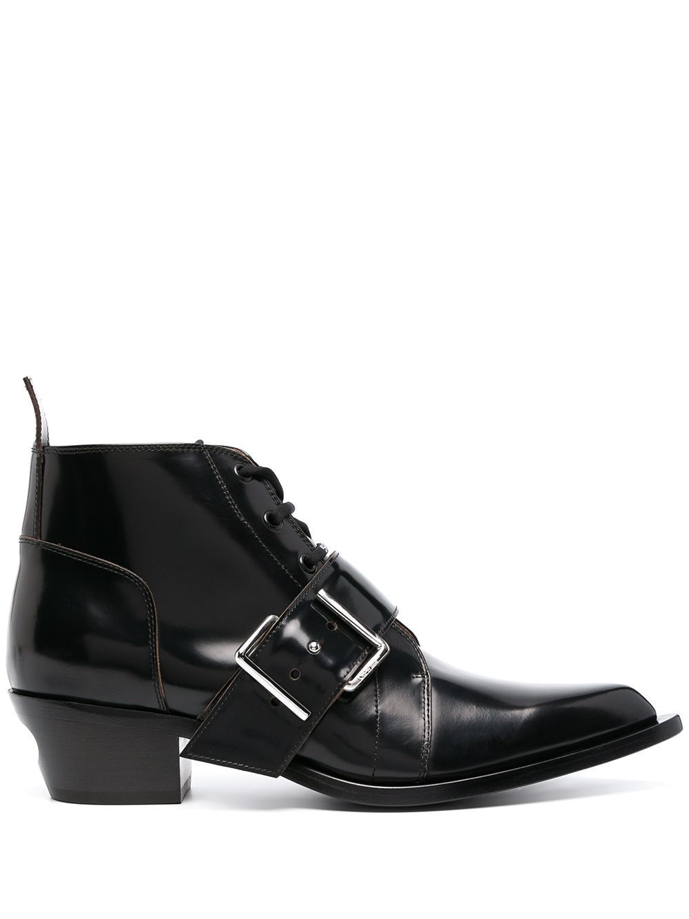 OFF-WHITE OFF-WHITE MEN'S BLACK LEATHER ANKLE BOOTS