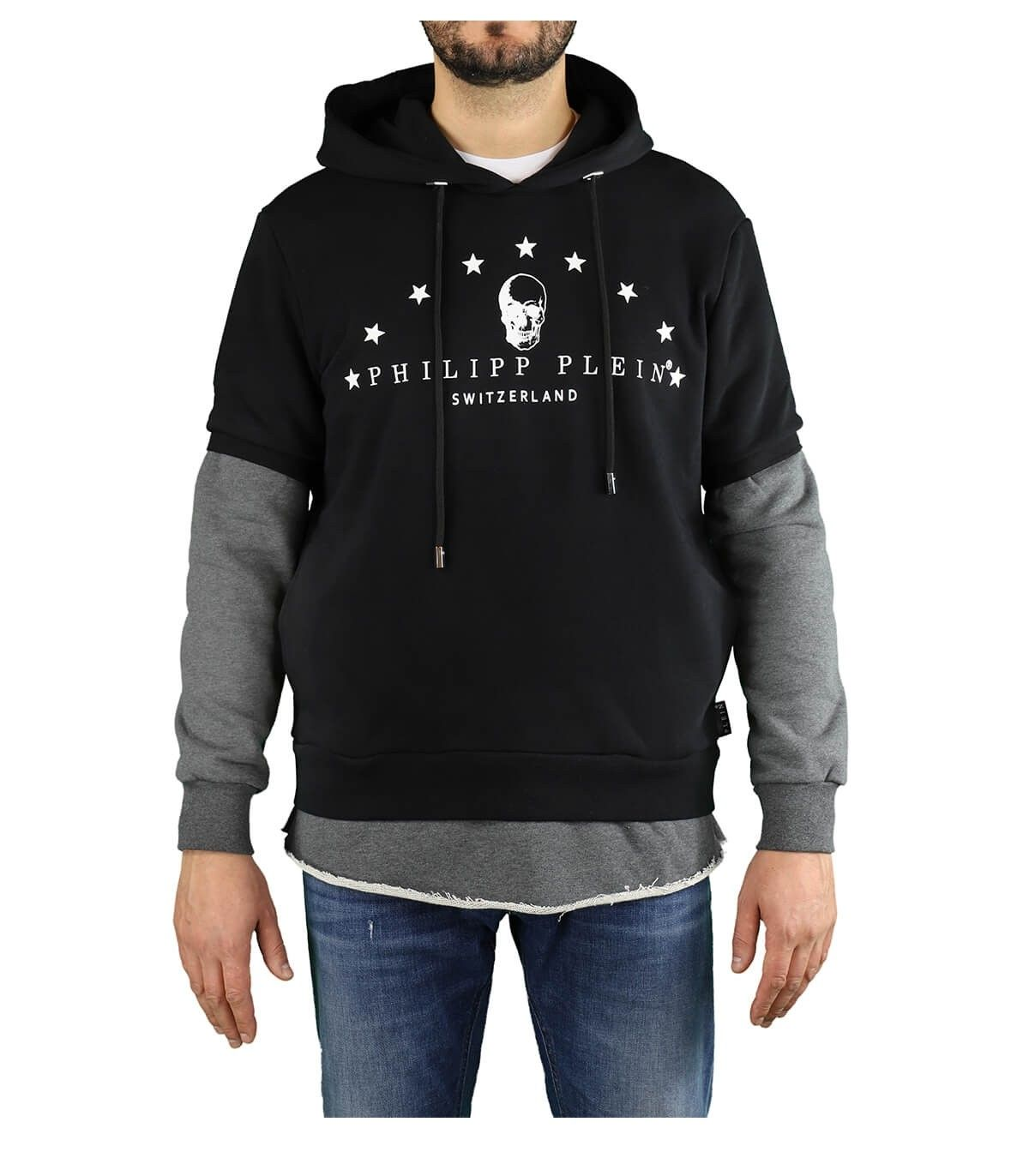Philipp Plein PHILIPP PLEIN MEN'S BLACK COTTON SWEATSHIRT