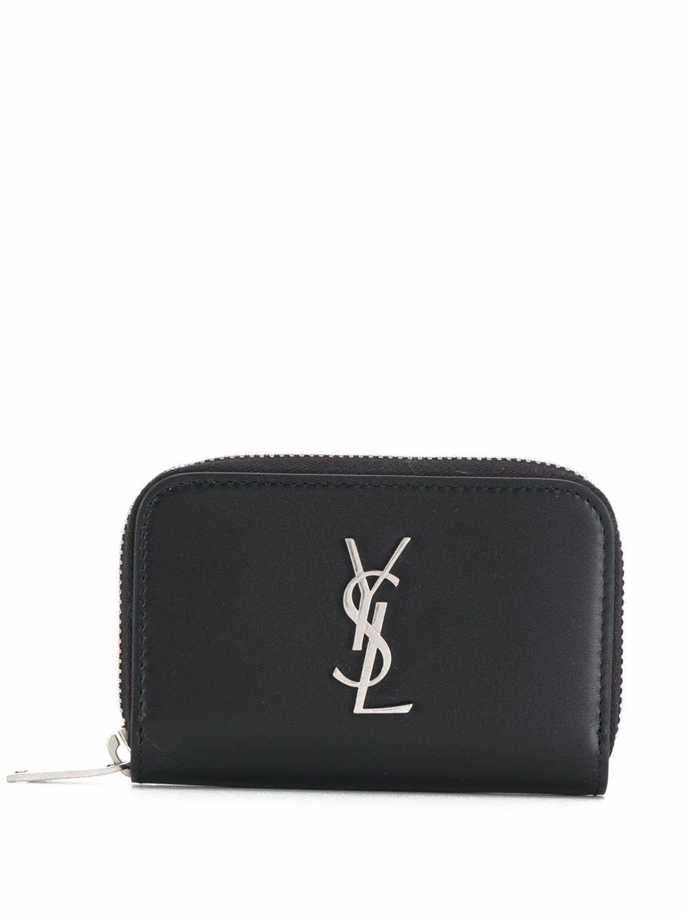Saint Laurent Men's Black Leather Wallet