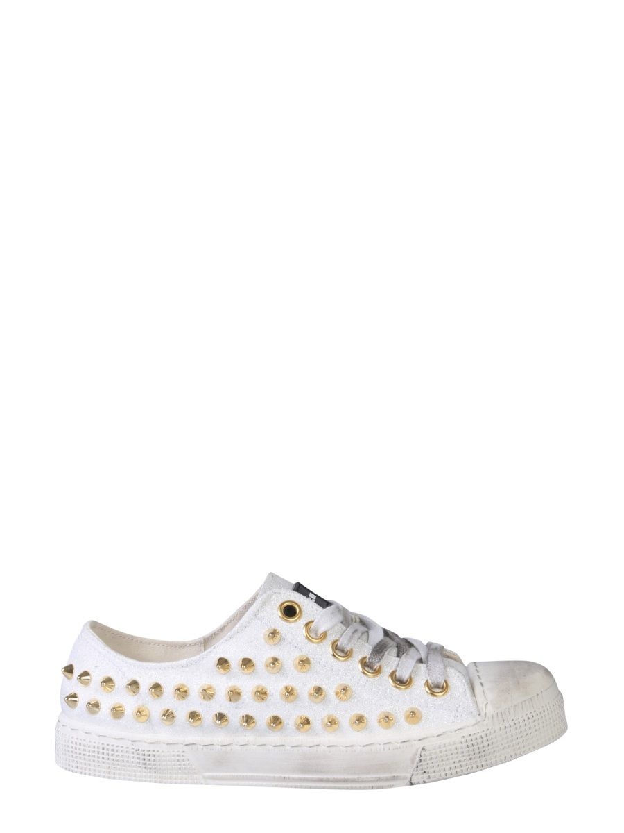 Gienchi WHITE LEATHER SNEAKERS