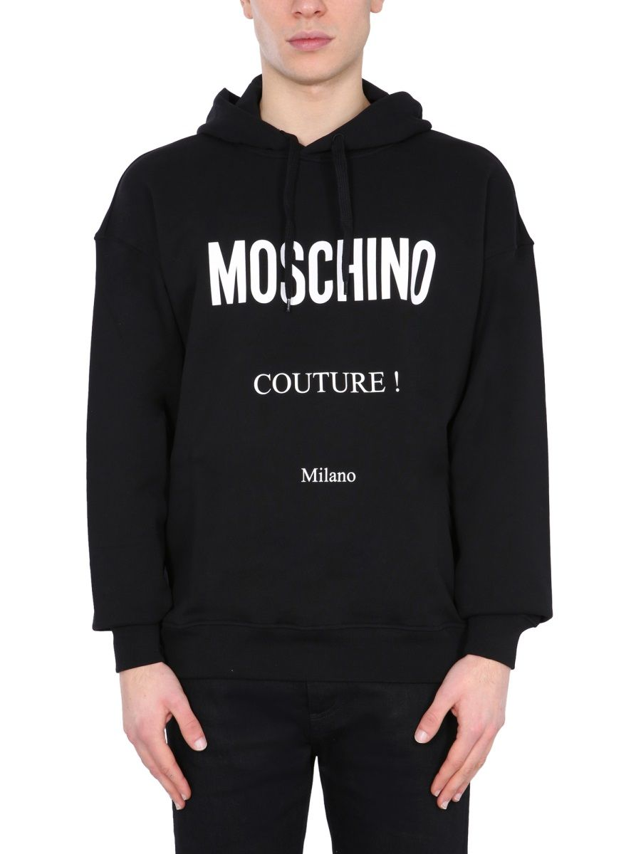 Moschino MOSCHINO MEN'S BLACK OTHER MATERIALS SWEATSHIRT