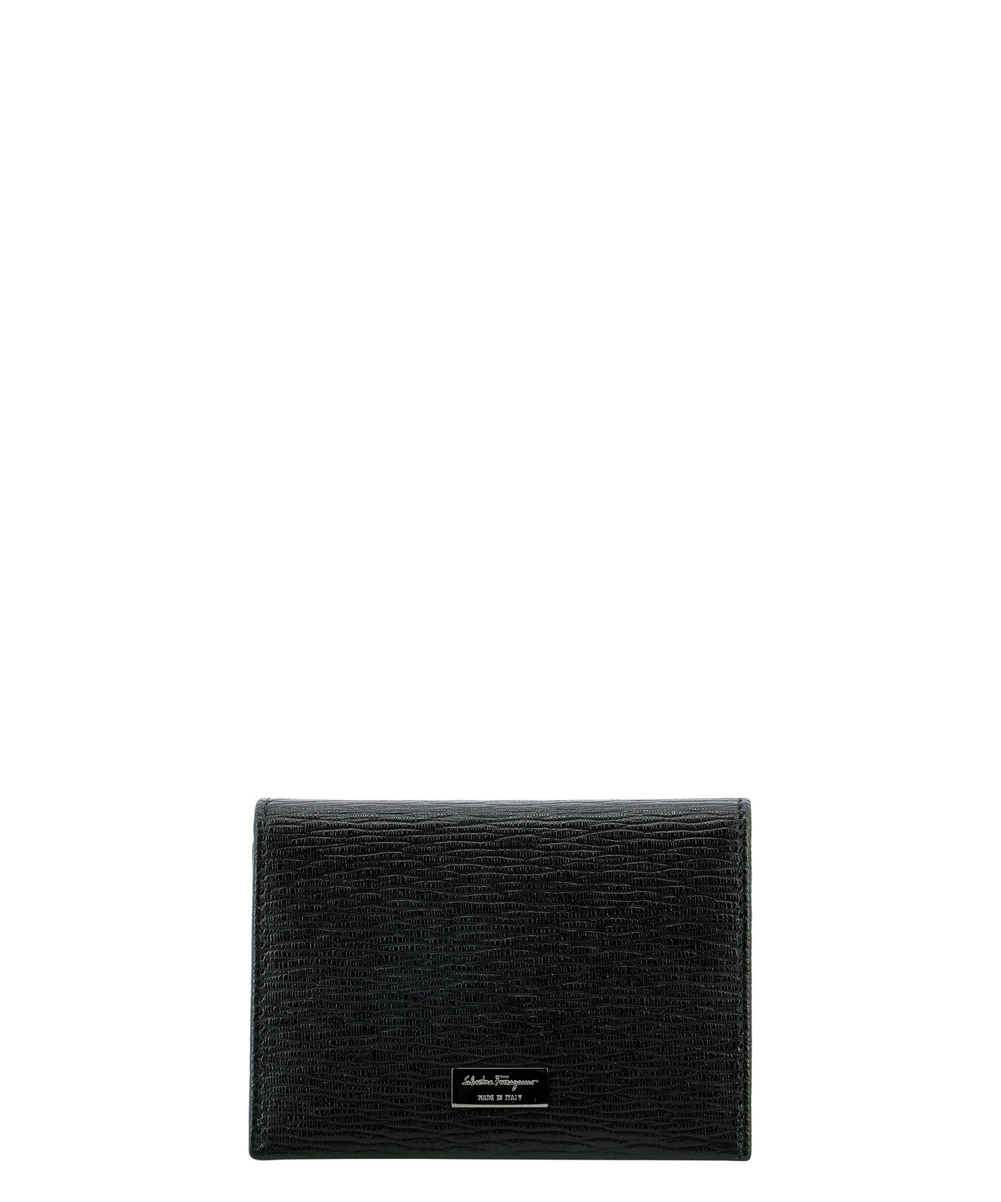 Salvatore Ferragamo Men's Black Other Materials Wallet