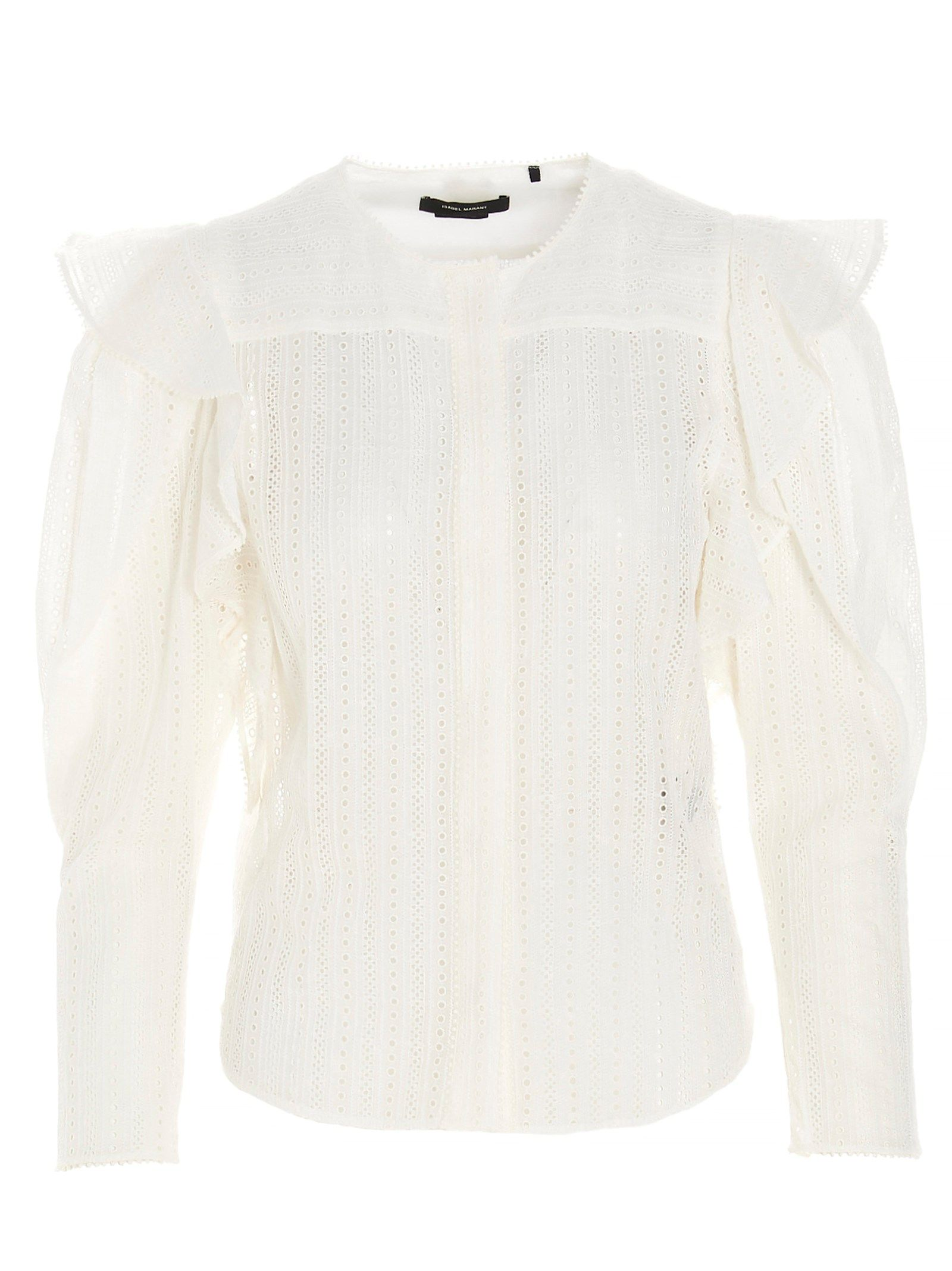 Isabel Marant ISABEL MARANT WOMEN'S WHITE OTHER MATERIALS SHIRT