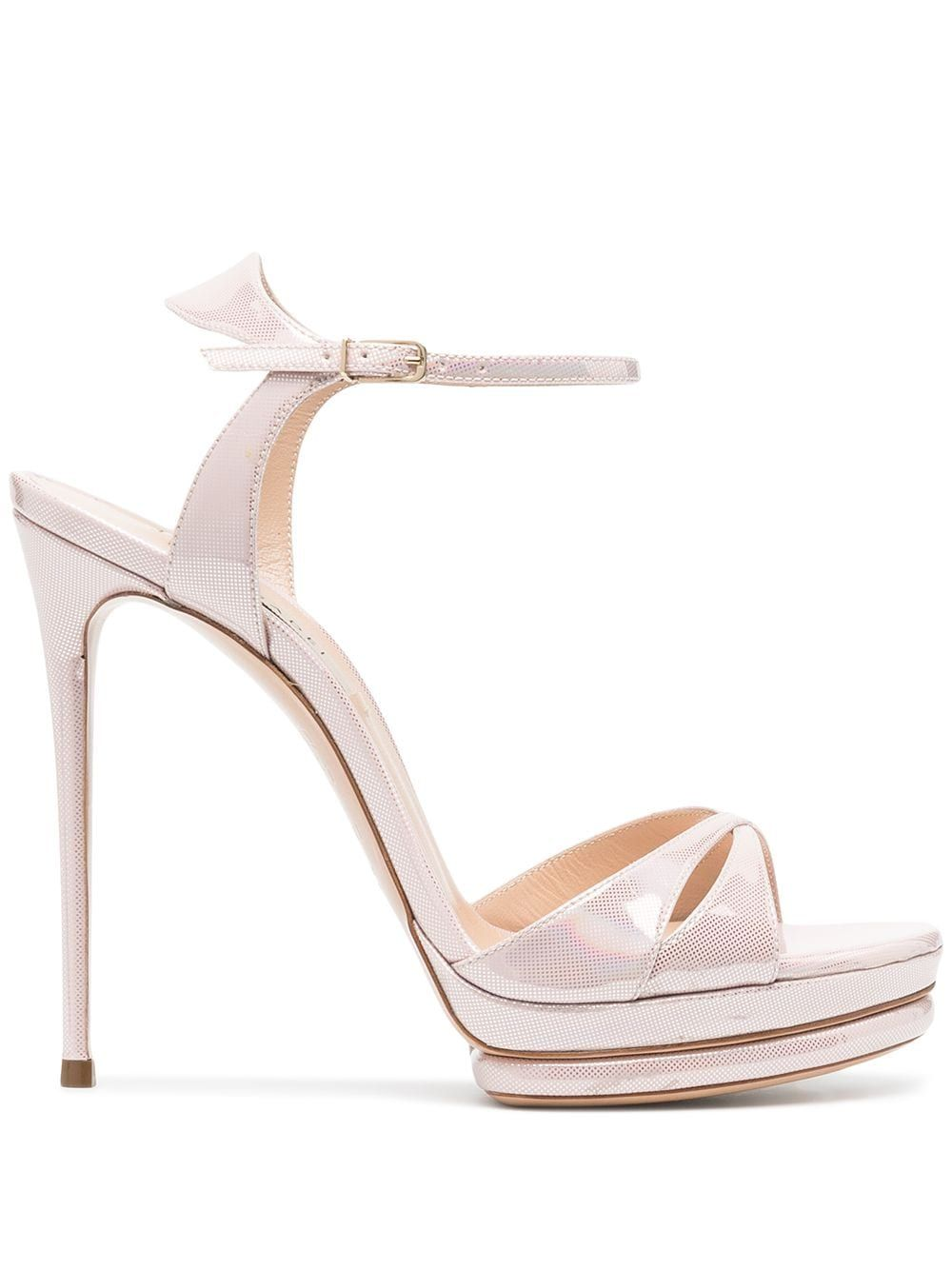 Casadei CASADEI WOMEN'S PINK LEATHER SANDALS