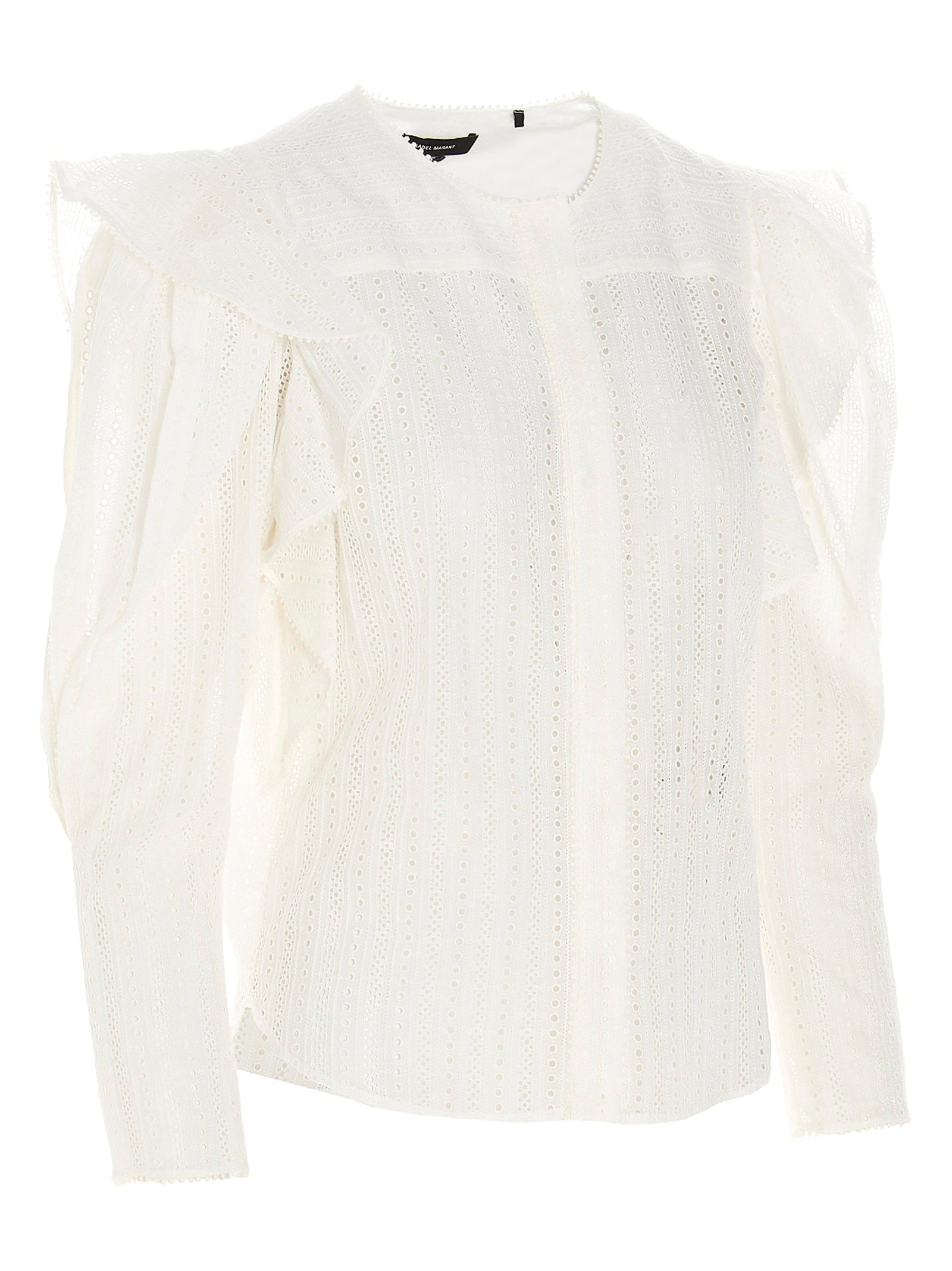 ISABEL MARANT Shirts ISABEL MARANT WOMEN'S WHITE OTHER MATERIALS SHIRT