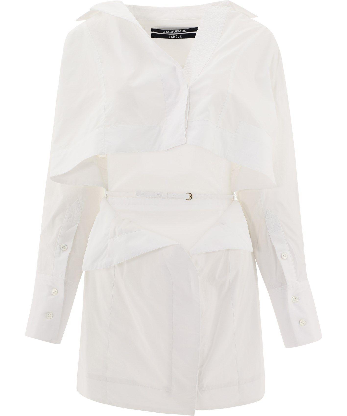 Jacquemus JACQUEMUS WOMEN'S WHITE OTHER MATERIALS DRESS