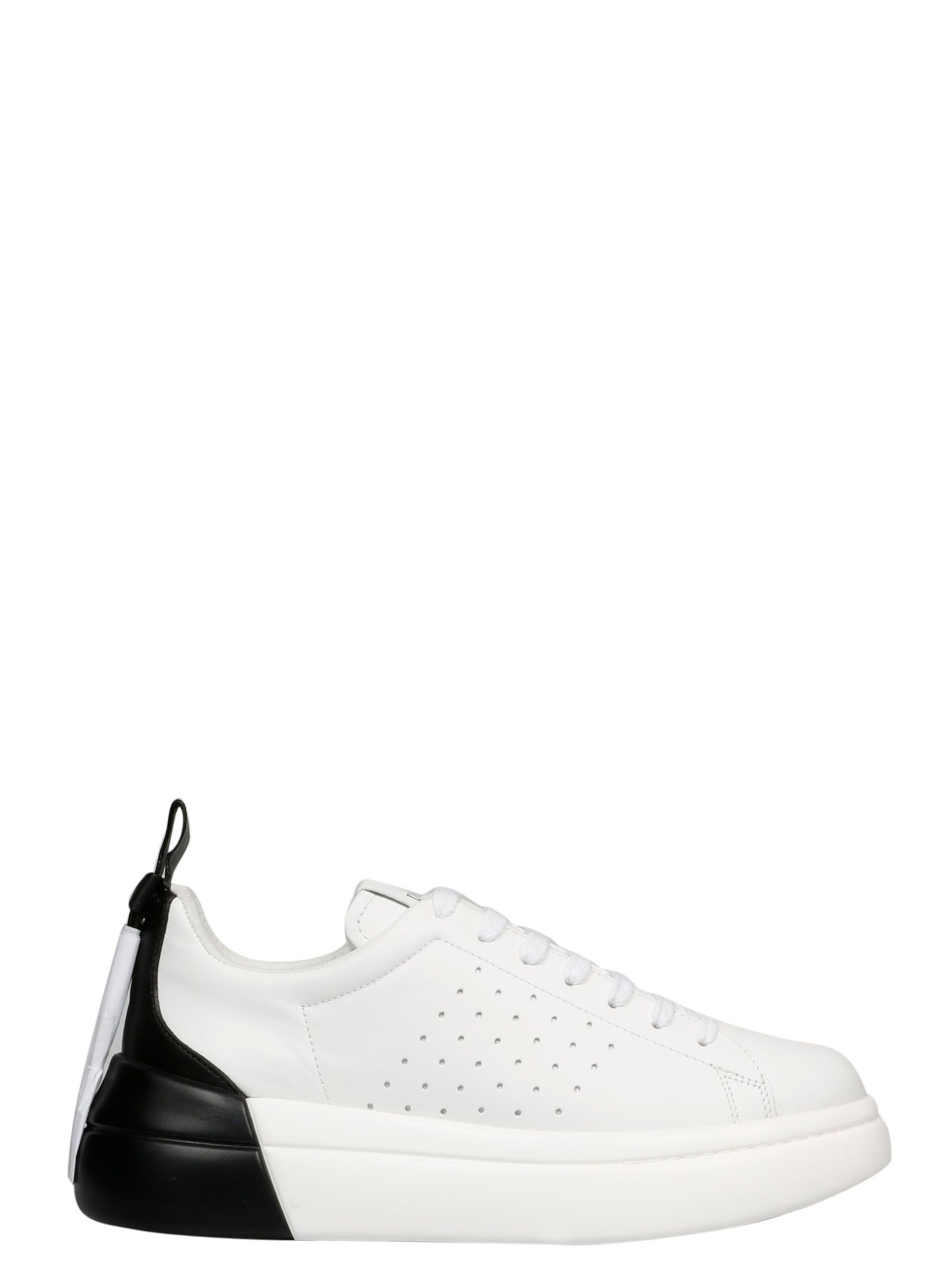 Red Valentino Leathers RED VALENTINO WOMEN'S WHITE LEATHER SNEAKERS