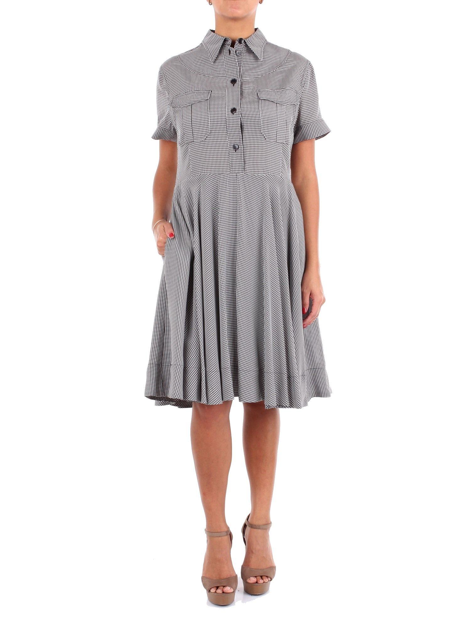 Calvin Klein Black Viscose Dress