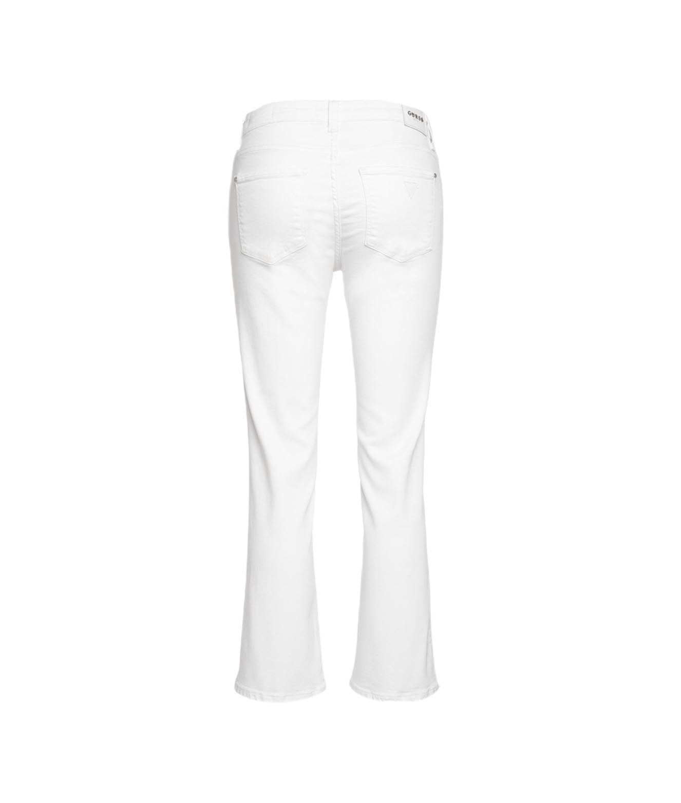 GUESS Jeans GUESS WOMEN'S WHITE OTHER MATERIALS JEANS