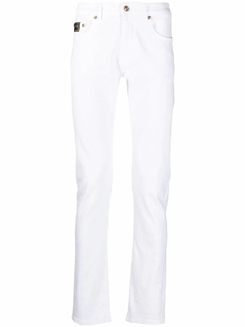 Versace Jeans VERSACE JEANS MEN'S WHITE COTTON JEANS