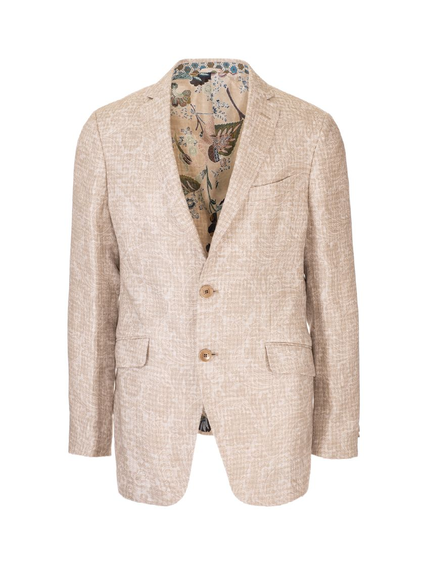 Etro ETRO MEN'S BEIGE OTHER MATERIALS BLAZER