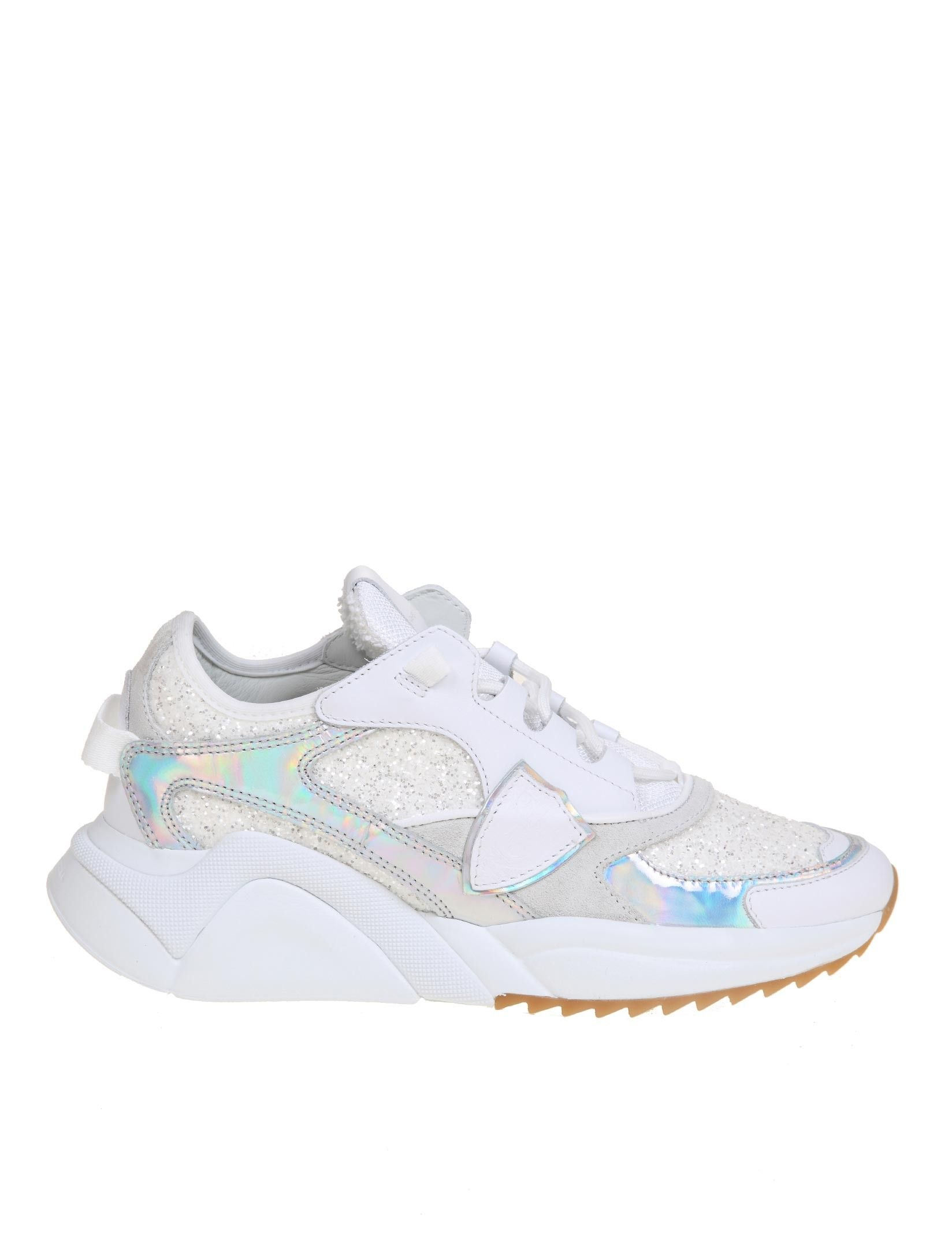 Philippe Model PHILIPPE MODEL WOMEN'S WHITE LEATHER SNEAKERS